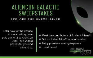 Win an all-expense paid trip for 2 to AlienCon 2018