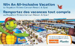 Win an All-inclusive trip the Royalton Riviera Royalton White Sands Montego Bay, Jamaica - 1 US winner and 1 Canadian Winner
