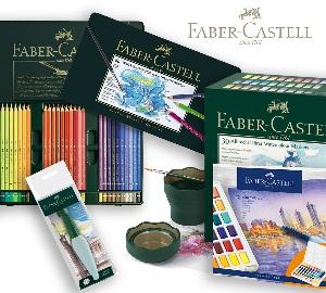 Win an amazing prize package from Faber-Castell which includes: Albrecht Dürer Watercolor Markers – Gift Box of 30,  Albrecht Dürer Watercolor Pencils – Tin of 60, Art and Graphic Water Brush, Clic and Go Water Cup, and Watercolor pan set with 48 colors!