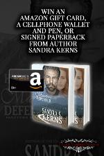 Win an Amazon Giftcar, Signed Paperback or Cellphone Wallet & Pen from author Sandra Kerns!