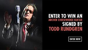 Win an Archer Cheesewedge Guitar signed by Todd Rundgren