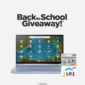 Win an ASUS® Chromebook Flip 2 in 1 Laptop + LD Products Gift Card valued at $100