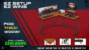 Win an awesome L shaped Gaming Desk!
