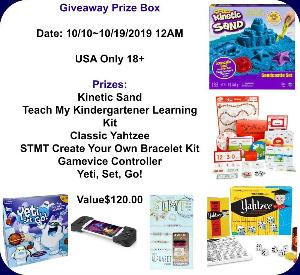Win an awesome prize box full of Toys & Games!!