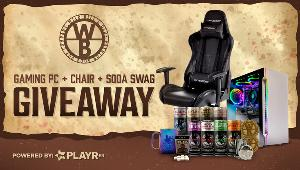Win an awesome prize pack!!  SkyTech Archangel Gaming PC + Wild Bill's Swag 1 winner GTRacing Gaming Chair + Wild Bill's Swag 1 winner!!