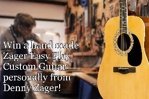 Win an Easy Play Custom Guitar with Accessories Package personally from Denny Zager!