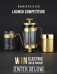 Win an Electric Gold Set of Products from Barista & CO