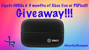 Win an Elgato HD60s and 3 months of XboxLive or PSPlus!!