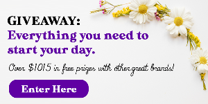 Win an Everything you Need to Start your Morning Gift Basket worth over $1015!!