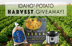 Win an Instant Pot, a 15 lb. bag of fresh Idaho® potatoes and Kathy Hester's new cookbook