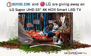 "Win an LG Super UHD 55"" 4K HDR Smart LED TV"