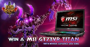 Win an MSI GT73VR with Nvidia GeForce GTX 1080