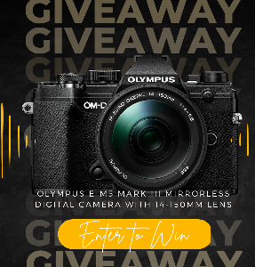 Win an Olympus E-M5 Mark III Camera with 14-150mm Lens