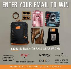 Win an outdoor essentials prize package worth $1750