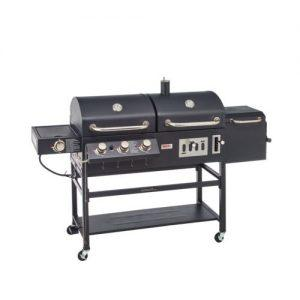 Win an Outdoors Gourmet Pro Triton Classic Gas/Charcoal Grill and Smoker Box