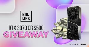Win an RTX 3070 or $500 !!