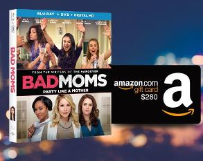 Win Bad Moms on Blu-ray Combo Pack + a $280 Amazon Gift Card!