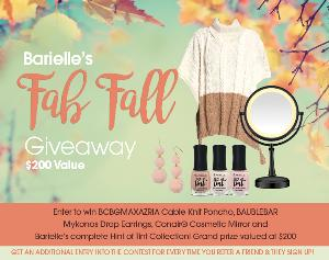 Win Barielle's Fall Giveaway