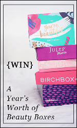 Win beauty boxes for a whole year