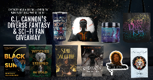 Win Black Sun by Rebecca Roanhorse, Witches Steeped In Gold by Ciannon Smart, Star Daughter by Shveta Thakrar, and Gideon the Ninth by Tamsyn Muir, plus, a Children of Blood and Bone pillow, a Black Panther Shuri travel mug...+more!..