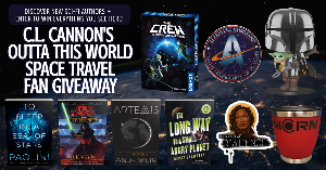 "Win books plus, a Mandalorian and Grogu (Baby Yoda) Funko Pop, Star Trek Qi pad  wireless phone charger, The Crew cooperative card game, The Expanse ""Morn"" coffee travel mug, and a Zoe Firefly magnet!!"