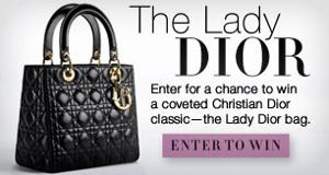 WIN: Christian Dior's Lady Dior handbag