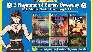 """Win codes for:Game """"Fury Unleashed"""" (PS4); Game """"Thunder Paw"""" (PS4) & Game """"Gun Crazy"""" (PS4);"""