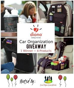 Win Diono Car Organization Products! U.S. Giveaway Only.