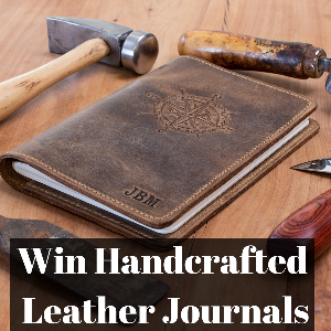 Win Handcrafted Leather Journals (+lifetime warranty)