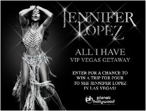WIN: Jennifer Lopez 'All I Have' VIP Vegas Getaway for Four!