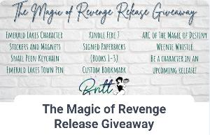 Win -Kindle Fire 7 -Signed Paperback of The Magic of Discovery -Signed Paperback of The Magic of Betrayal -Signed Paperback of The Magic of Revenge -Custom bookmark...+ more...