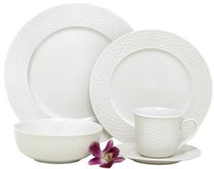 WIN: Melange Nantucket Weave Dinnerware Set