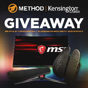 "Win MSI Optix 27"" 144Hz Curved Gaming Monitor, & Kensington Products"