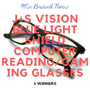Win New J+S Vision Blue Light Shield Computer Gaming Glasses