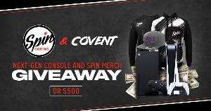 Win Next-Gen Console and Spin Merch or $500!