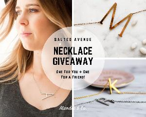 WIN NOT ONE, BUT TWO INITIAL NECKLACES FROM SALTED AVENUE!