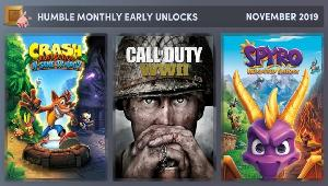 Win November 2019 Humble Monthly Bundle featuring Call of Duty®: WWII, Crash Bandicoot™ N. Sane Trilogy, and Spyro™ Reignited Trilogy!!