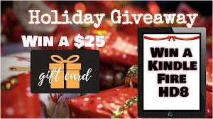 Win one of 5 cool prizes: 4 - $25 Amazon gift cards and a Kindle Fire HD8 will each go to one of 5 lucky winners!
