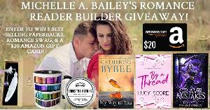 """Win One paperback copy of """"My Way To You"""" by Catherine Bybee, One paperback copy of """"Grave Mistakes"""" by Ivy Asher, One paperback copy of """"By a Thread"""" by Lucy Score, One bookish coffee mug, One handmade bookmark,...+more...!!!"""