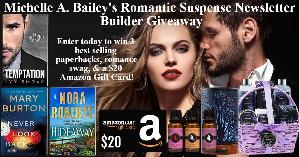 """Win One paperback copy of """"Temptation"""" by Ivy Smoak, One paperback copy of """"Hideaway"""" by Nora Roberts, One paperback copy of """"Never Look Back"""" by Mary Burton, One 9 piece spa gift basket, One 3 piece fragrance oil set, + more..."""