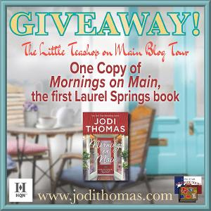 Win One Print Copy of MORNINGS ON MAIN, the first Laurel Springs book