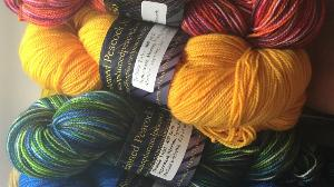 win one Skein of Hand Dyed Yarn