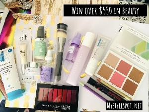 Win over $550 in Beauty Products!