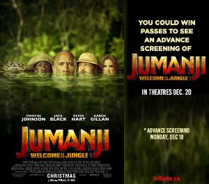 "WIN passes to ""Jumanji: Welcome To The Jungle""."