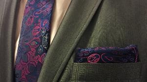 WIN: Purple Neck Tie with Cufflinks