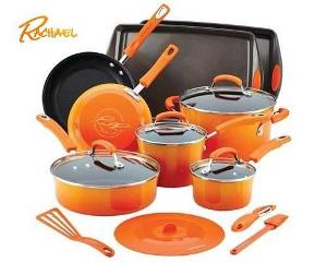win rachael ray 16 piece non stick cookware set