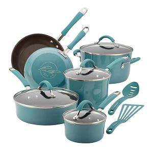 Win Rachael Ray Porcelain Enamel Nonstick Cookware 12-Piece Set