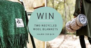 WIN RECYCLED WOOL BLANKETS WROTH OVER $600