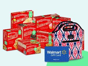 Win School Snacks, a Lunchbox & a $100 Walmart Gift Card from Otis Spunkmeyer !!!