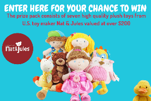 WIN seven gorgeous soft toys from US toy maker Nat & Jules